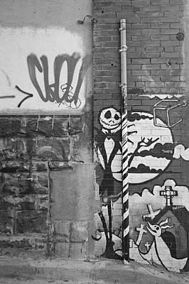 Jack Skellington Photograph - Alley Graffiti by Jesse Brenneman