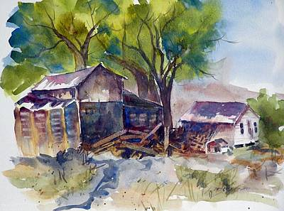 Art Print featuring the painting Arcularis Barn by Pat Crowther