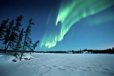 Winter Night Photograph - Aurora Borealis by Michael Ericsson
