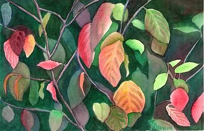 Autumn Leaves Art Print by Anne Havard