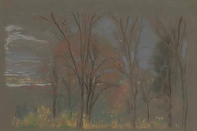 Pastel - Autumn Woods by Arthur Bowen Davies