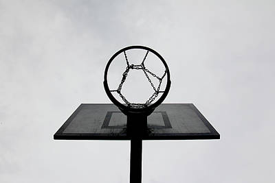 Basketball Hoop Art Print by Christoph Hetzmannseder