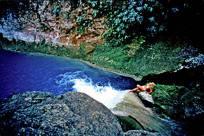 Photograph - Bassin Blue - Jacmel Haiti by Johnny Sandaire