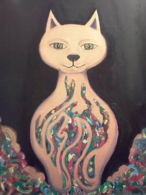 Egyptian Goddess Painting - Bast- Egyptian Feline Goddess by Kendell Tubbs