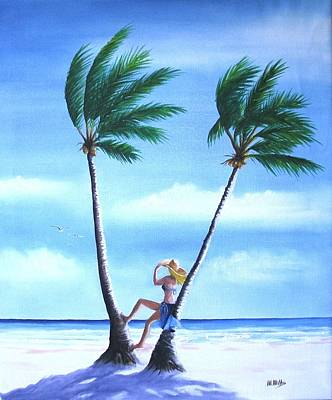 Painting - Beach Girl by Maria Mills