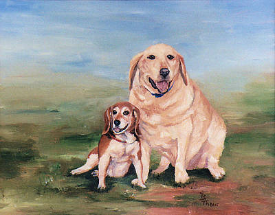 Painting - Belle And Eddie by Brenda Thour