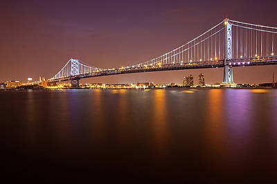 Ben Franklin Bridge Art Print by Richard Williams Photography