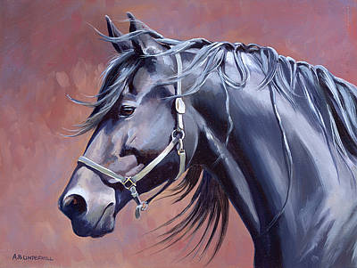 Friesian Painting - Bente by Alecia Underhill