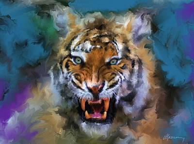 Big Cat Dream Art Print by Michael Greenaway
