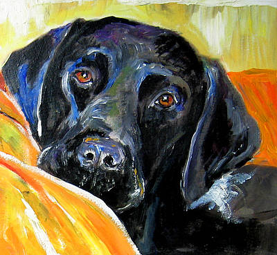 Painting - Black Lab by Debora Cardaci