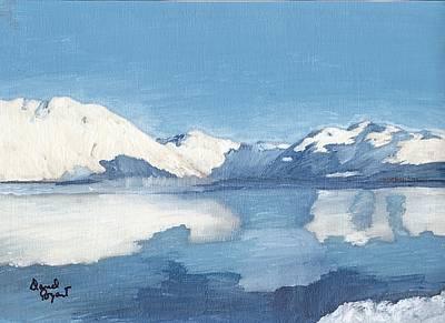 Blue Alaska Art Print by David Poyant