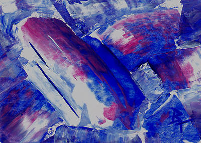 Painting - Blue Crystal Aceo by Brenda Thour