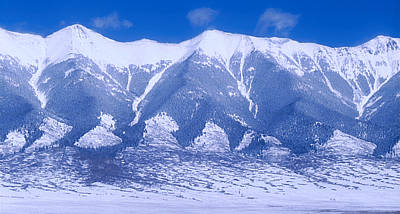 Winter Photograph - Blue Peaks by Jerry McElroy