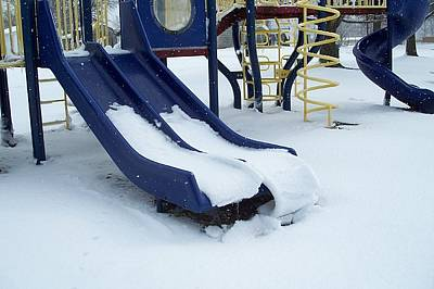 Photograph - Blue Winter Playground by Janet Pugh