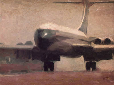 Briex Painting - Boac Vc10 Landing 5 by Nop Briex