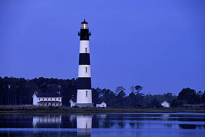 Bodie Island Lighthouse At Dusk - Fs000607 Art Print