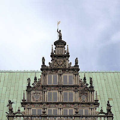 Bremen Medieval Town Hall Detail Original