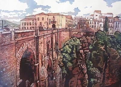 Painting - Bridge To Ronda by Leslie Redhead