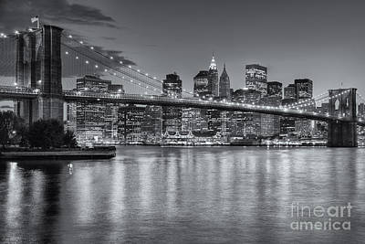 Brooklyn Bridge Twilight II Art Print