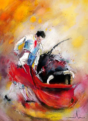 Art Miki Painting - Bullfight 73 by Miki De Goodaboom
