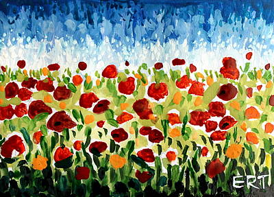 Garden Painting - Bursts Of Color by Elizabeth Robinette Tyndall