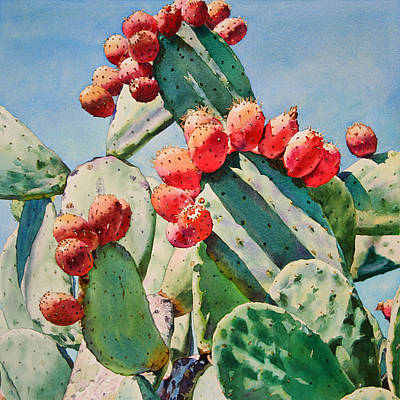 Cactus Apples Art Print