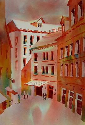 Calle De La Pieta Venice Italy Art Print