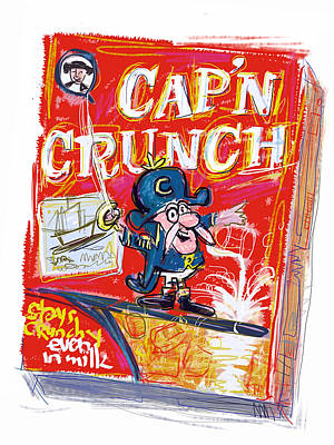 Mixed Media - Capn Crunch by Russell Pierce