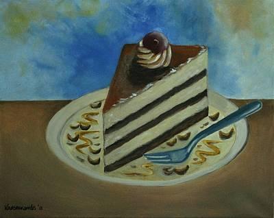 Caramel Cake Art Print by Kostas Koutsoukanidis