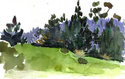 Carmel  California Art Print by Marianne  Gargour