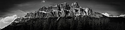 Banff Canada Photograph - Castle Mountain Panoramic by Brent Mooers