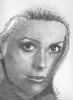 Drawing - Catherine Deneuve by Karen Townsend