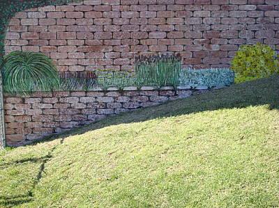 Cement Garden Wall Art Print