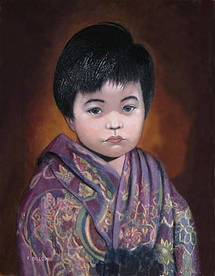 Painting - Chamorro Orphan by Frances  Dillon