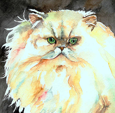 Painting - Chinchilla Cat by Christy  Freeman