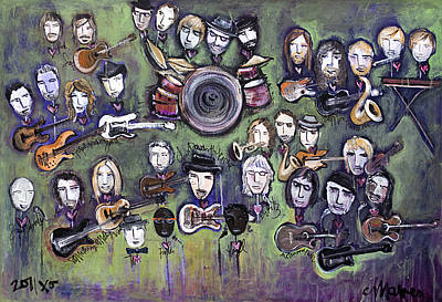 Painting - Chris Daniels And Friends by Laurie Maves ART