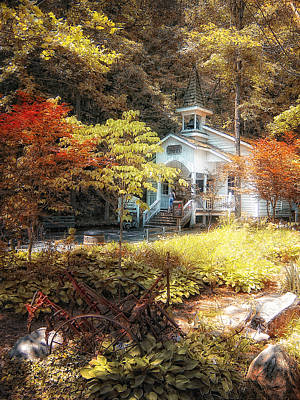 Photograph - Church In The Woods by Gina Cormier