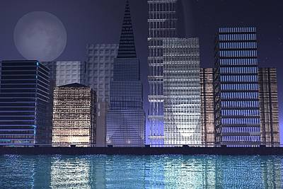 City Lights Art Print by Gt