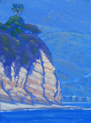 Old World Painting - Cliffs At Point Dume by Elena Roche