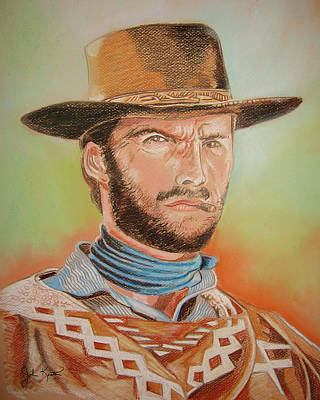 Drawing - Clint Eastwood by John Keaton
