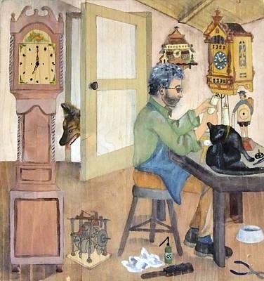 Painting - Clockmaker 1 by Annemeet Hasidi- van der Leij