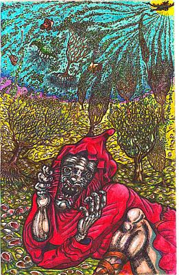 Close Encounter With A Dragon Art Print by Al Goldfarb