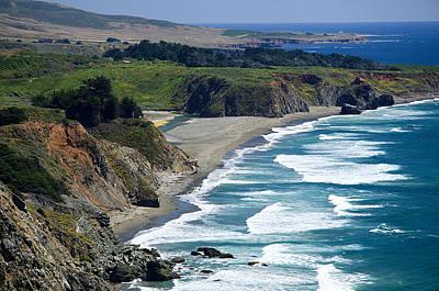 Coast Near Ragged Point Art Print