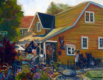 Coffee And Cream Cottage Art Print by Nora Sallows