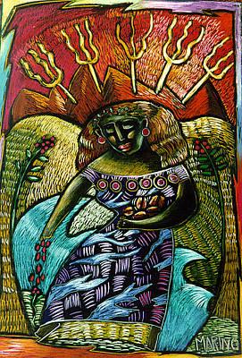 Coffee Goddess Art Print by Angelina Marino