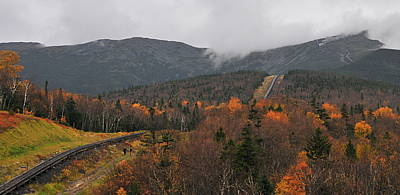 Photograph - Cog Railroad At Mount Washington by Brian Hoover