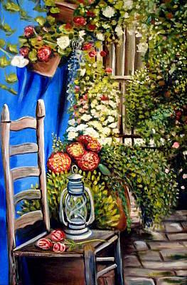 Garden Painting - Colbolt by Elizabeth Robinette Tyndall