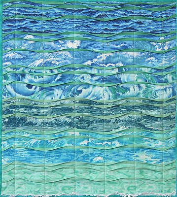 Fabric Mixed Media - Cold Sea by Salli McQuaid