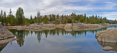 Coming Storm Lake Utica Sierra Nevada Landscape Panorama Larry Darnell Art Print by Larry Darnell