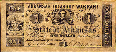 Confederate Banknote Art Print by Granger